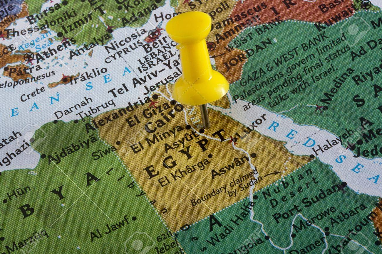 Country of egypt pinned on a world map stock photo picture and country of egypt pinned on a world map stock photo 8748868 gumiabroncs Choice Image