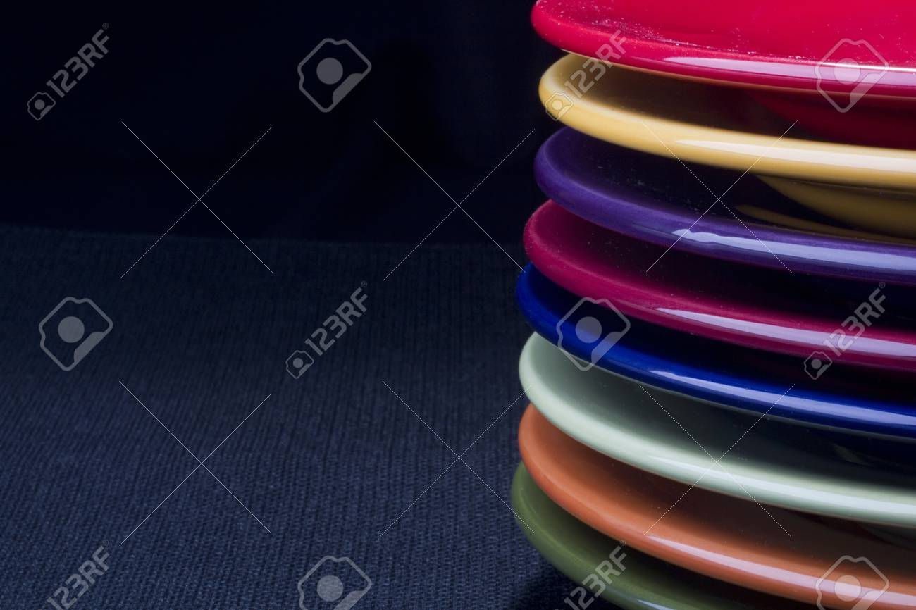 Colorful ceramic plates for the main dishes. Stock Photo - 8970189 & Colorful Ceramic Plates For The Main Dishes. Stock Photo Picture ...