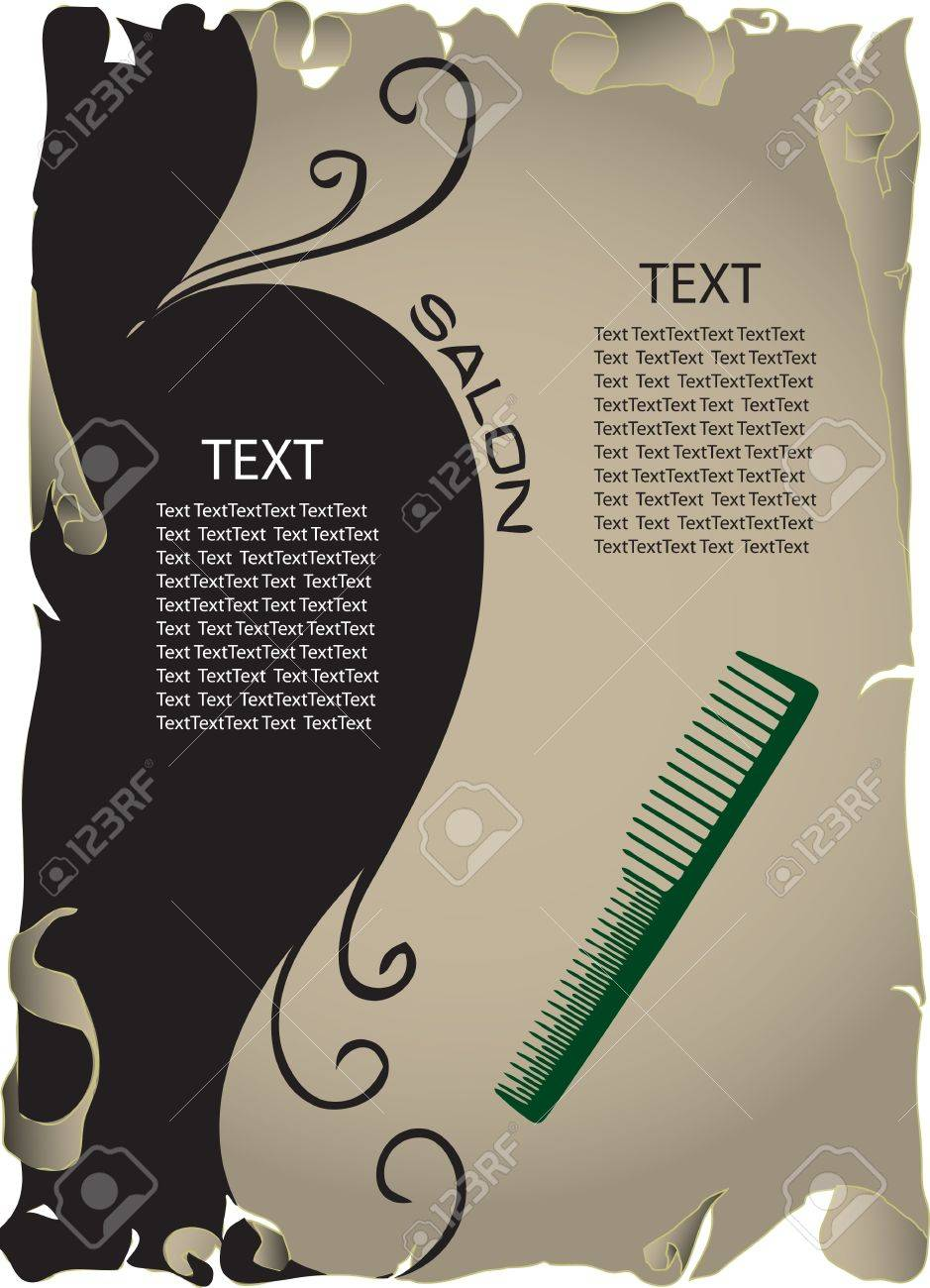The concept of background information about the beauty salon. Vector illustration. Stock Vector - 12200189