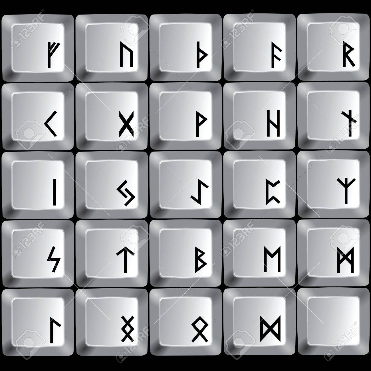 Rune symbols on the buttons of a computer keyboard royalty free rune symbols on the buttons of a computer keyboard stock vector 12813441 buycottarizona Gallery