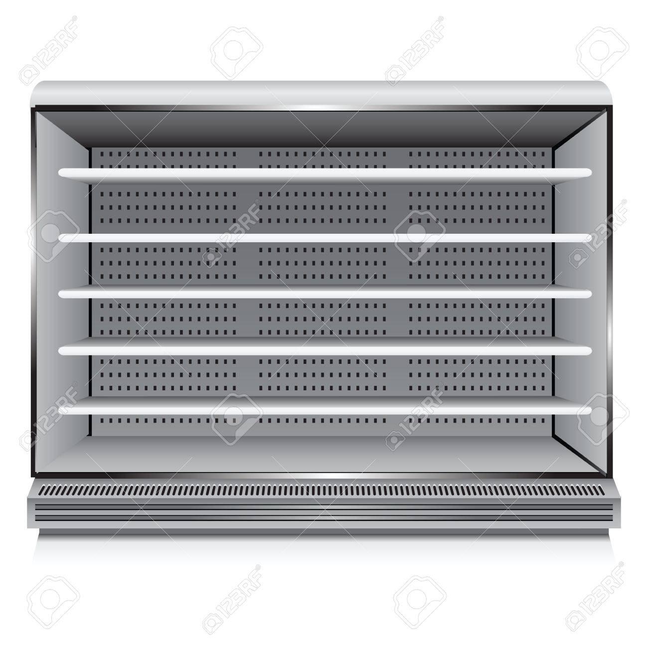 Modern commercial refrigerator for trade organizations. Vector illustration. Stock Vector - 14289474