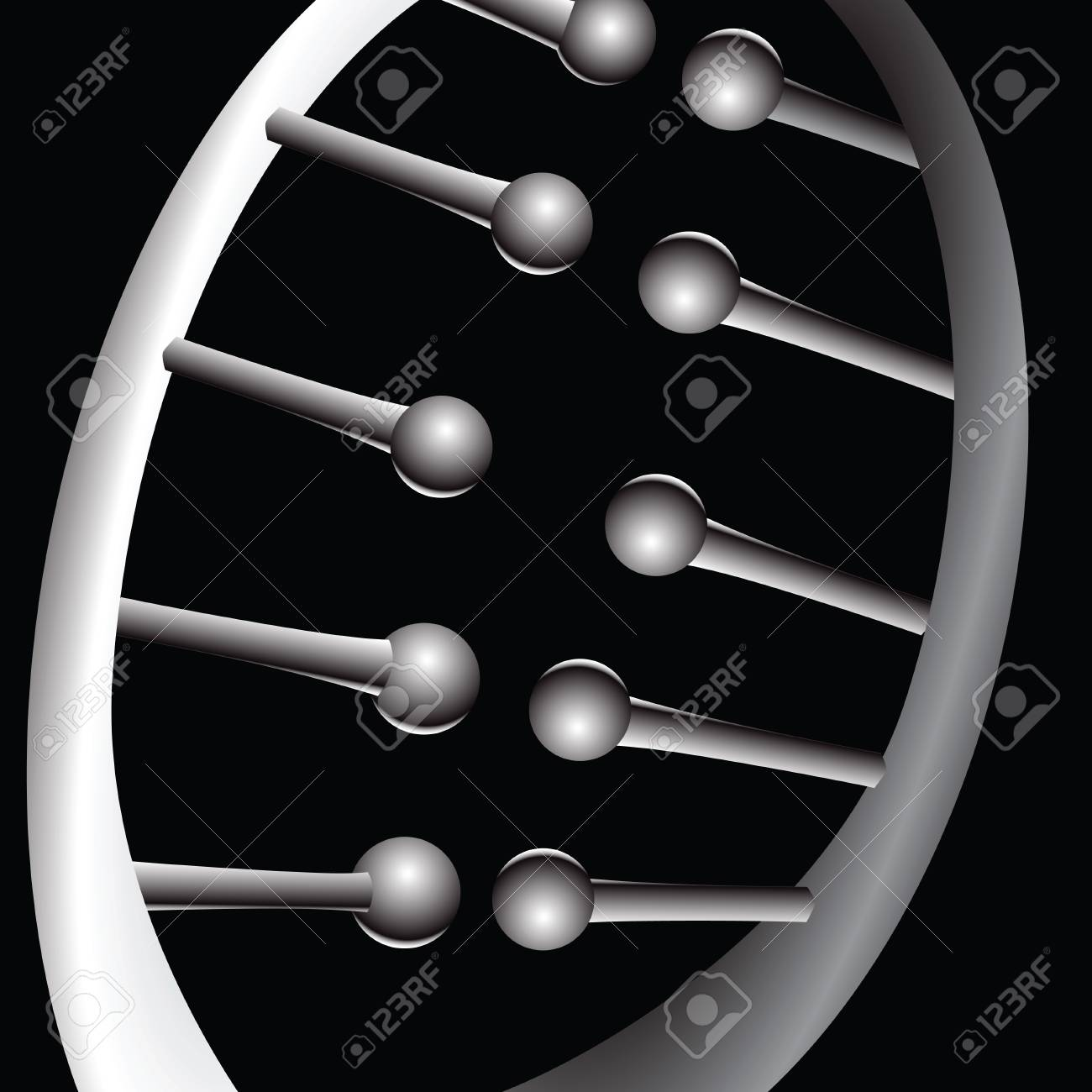 A small piece of chromosome illustrating the connection Stock Vector - 14577500