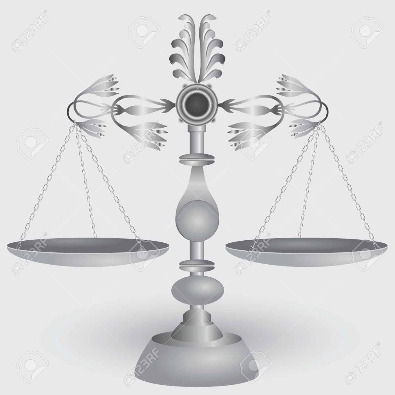 Vintage apothecary scales, symbol of jurisprudence. Stock Vector - 15472799