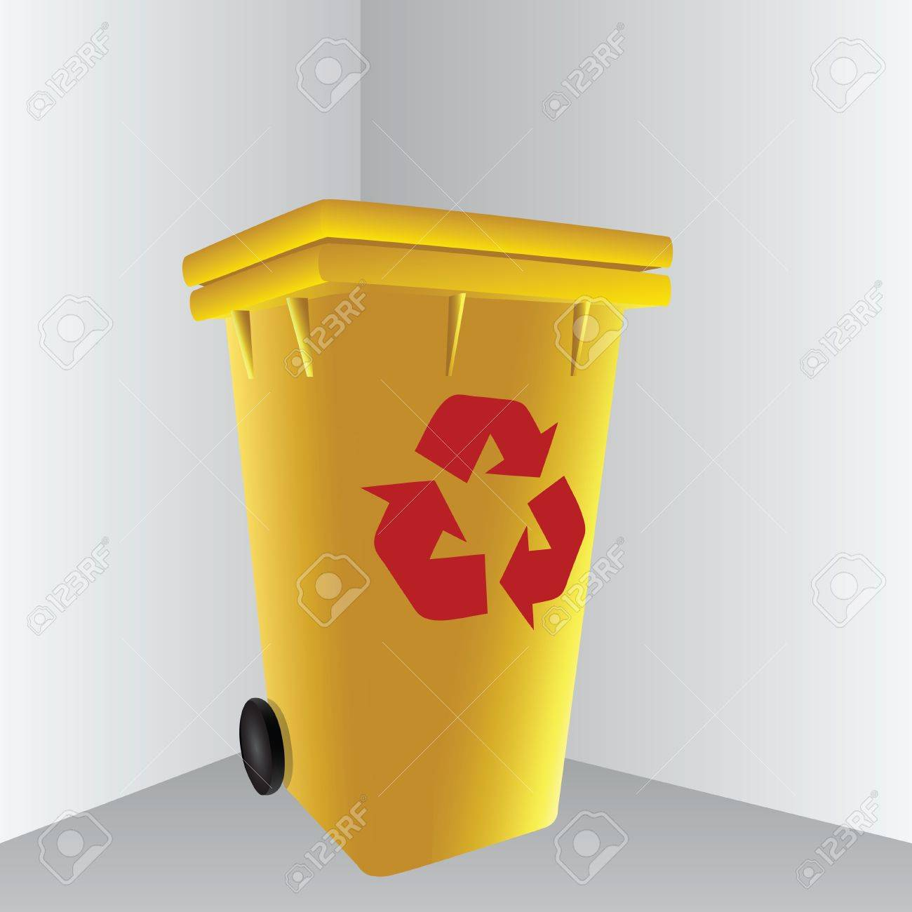 Symbol processing in a trash can. Stock Vector - 16673462