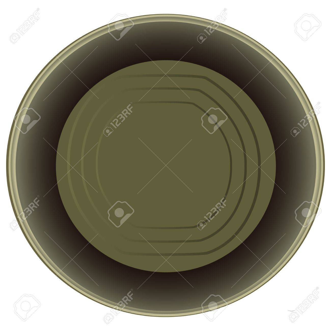 Open an empty tin can.  illustration. Stock Vector - 16913231