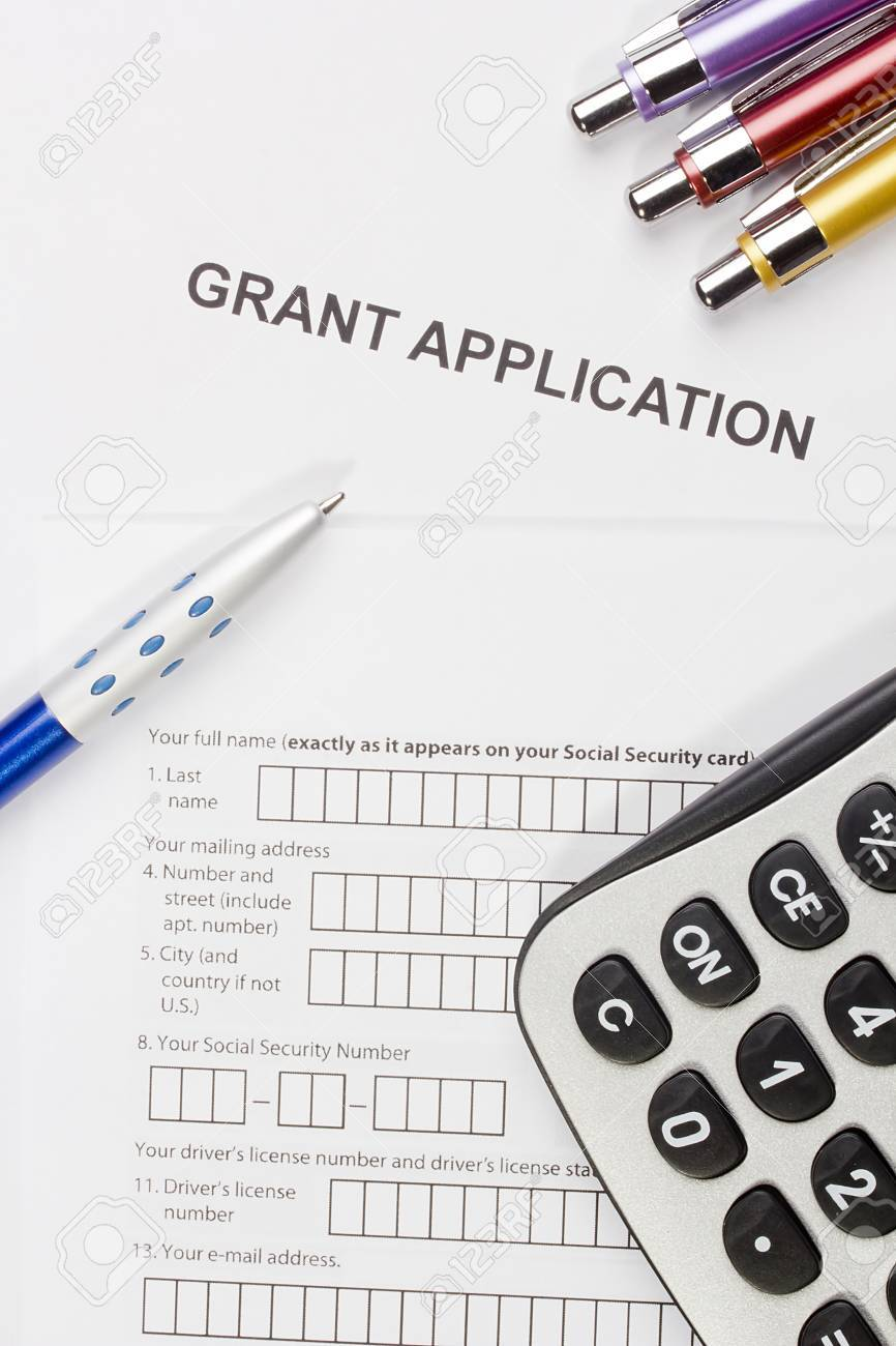 Directly above photograph of a grant application. Stock Photo - 16980974