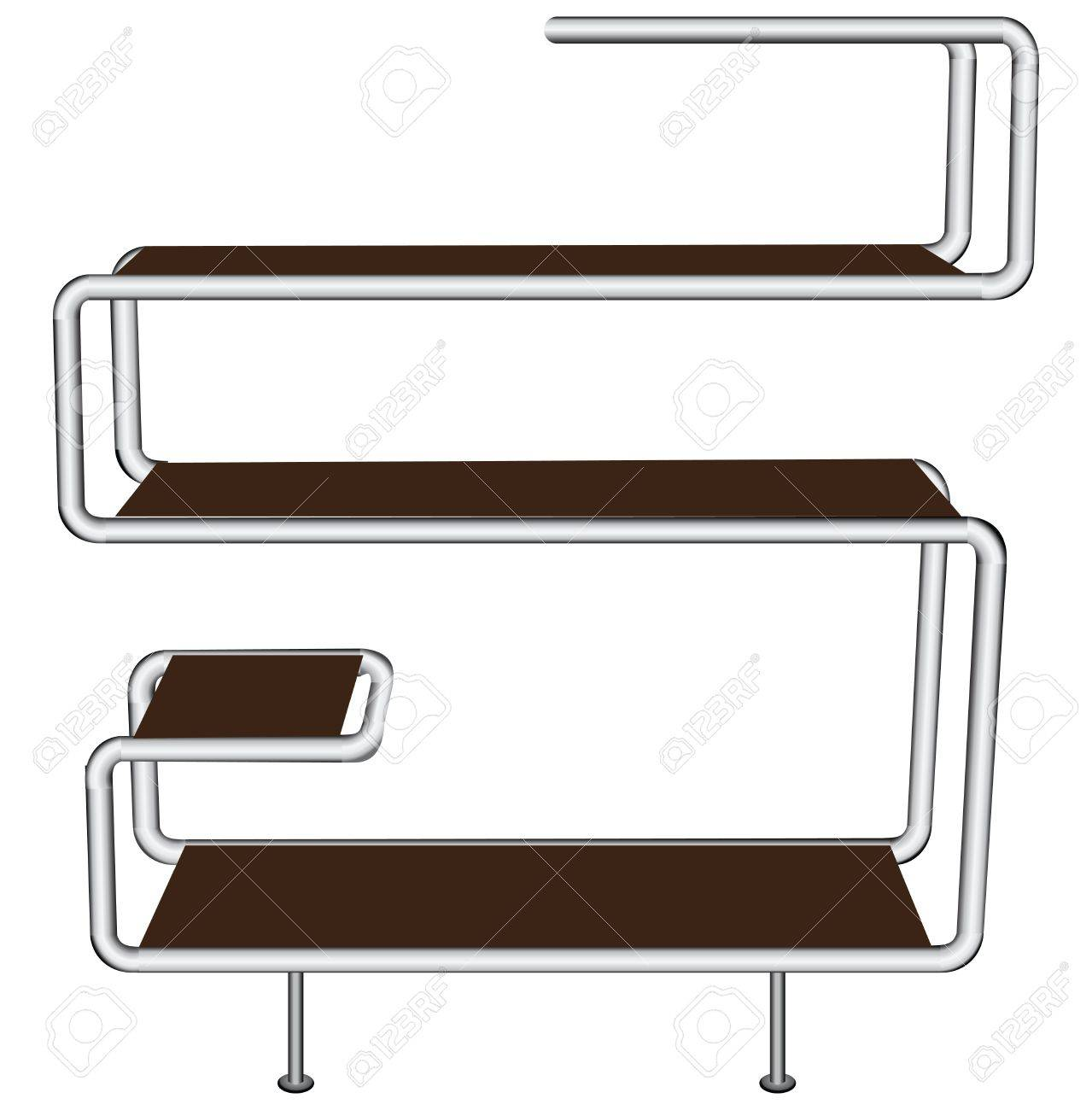Contemporary shelf for home and office Stock Vector - 17061598