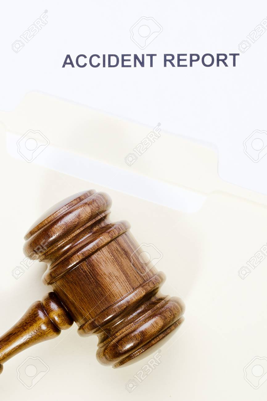 Directly above photograph of an accident report. Stock Photo - 17242851