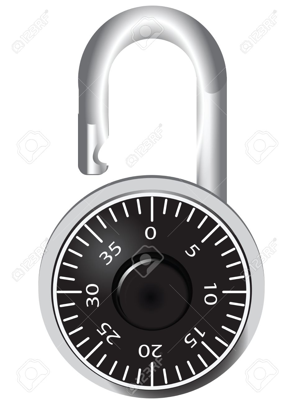 Digital door lock for rooms and lockers. Vector illustration. Stock Vector - 17276176