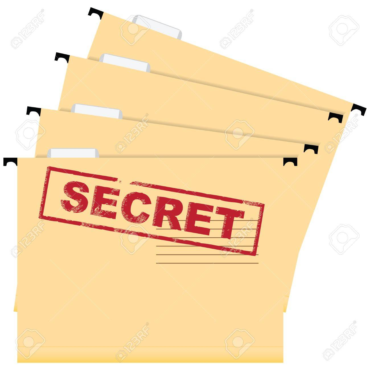 Stamp warning secrecy. A set of files of the document. Vector illustration. Stock Vector - 17375488