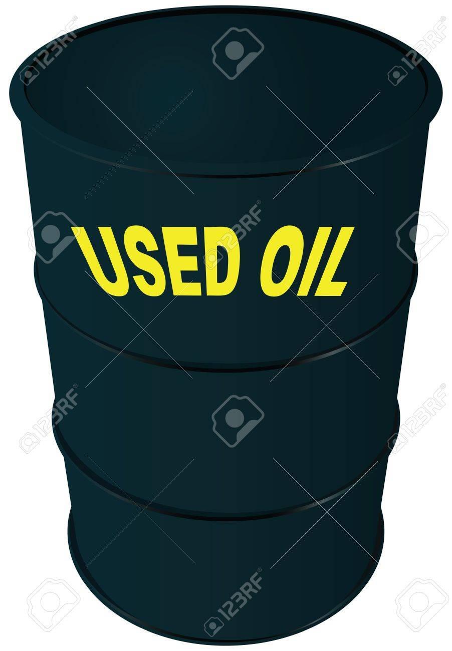 Steel barrel oil. Used oil. Stock Vector - 17565598