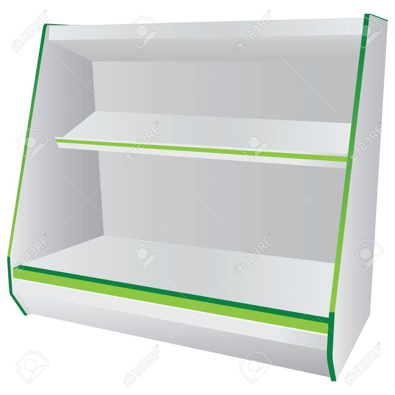 Commercial shelving with hanging shelves. Vector illustration. Stock Vector - 18953590