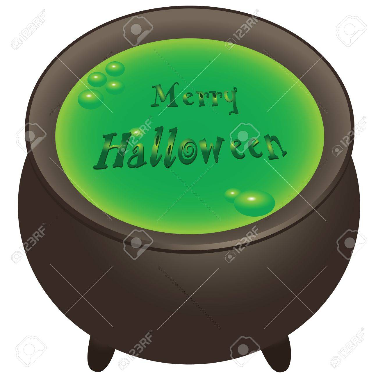 Preparation of magical ingredients in the pot. Merry Halloween. Vector illustration. Stock Vector - 18953602