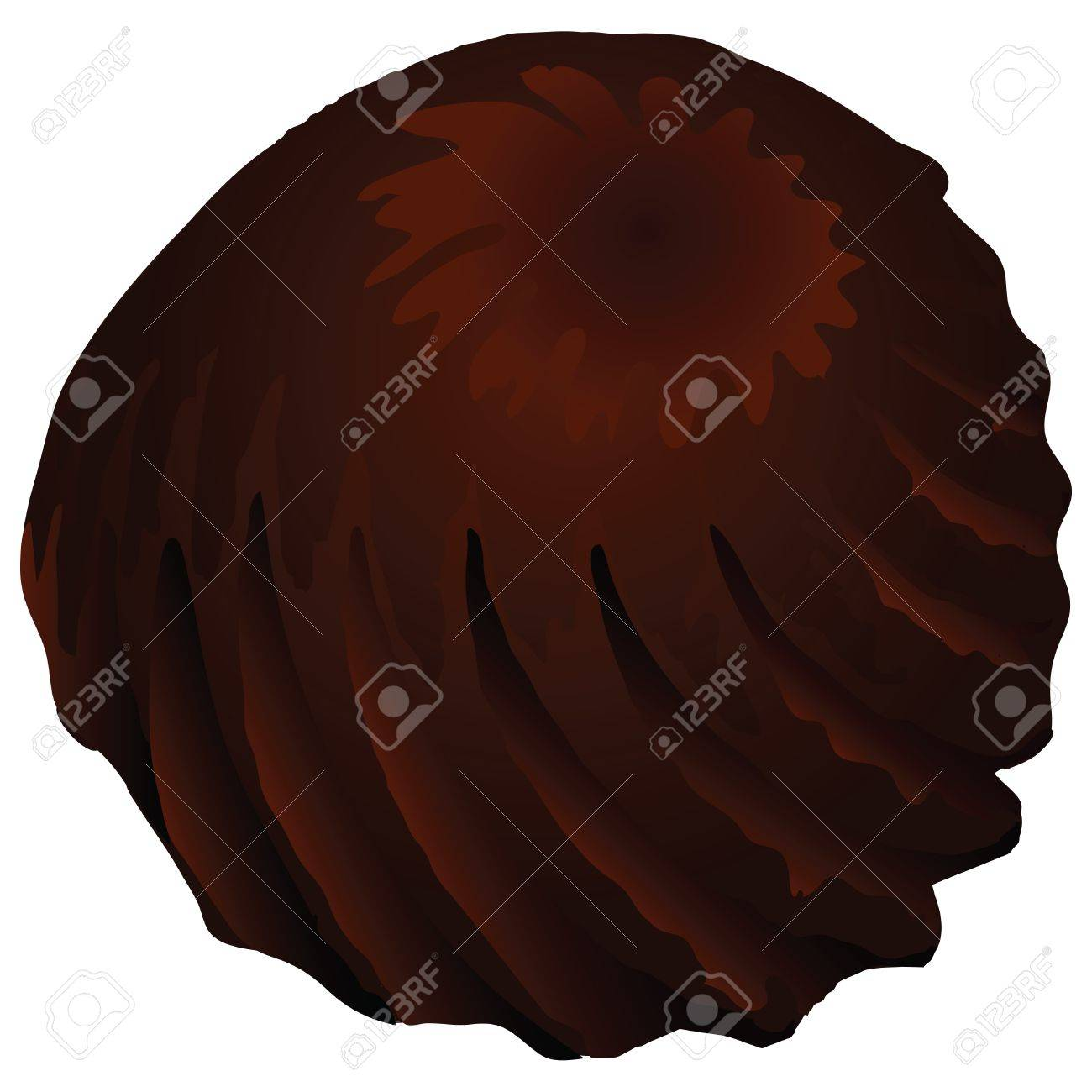 Truffle chocolate candy with a twisted spiral illustration. Stock Vector - 20410061