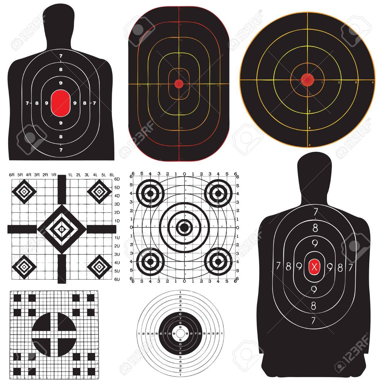 A professional set targets for training. Vector illustration. - 20920944