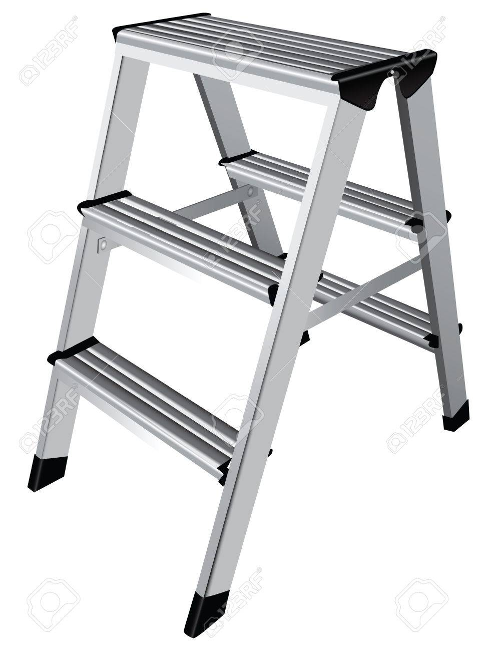 Easy Step Ladder Two Steps Vector Illustration Royalty Free Cliparts Vectors And Stock Illustration Image 21152114
