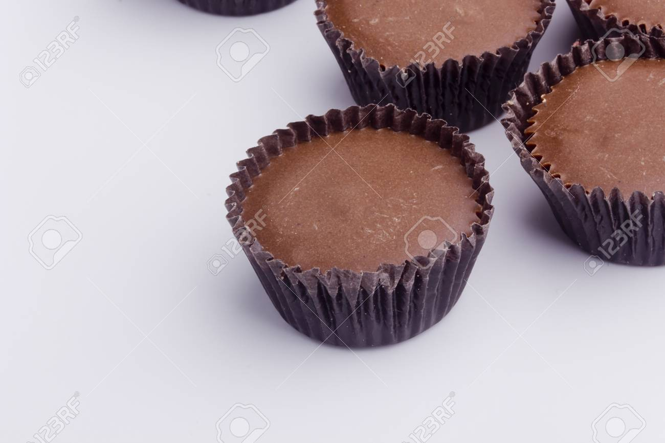 Chocolate candies with fillings  Milk chocolate cups