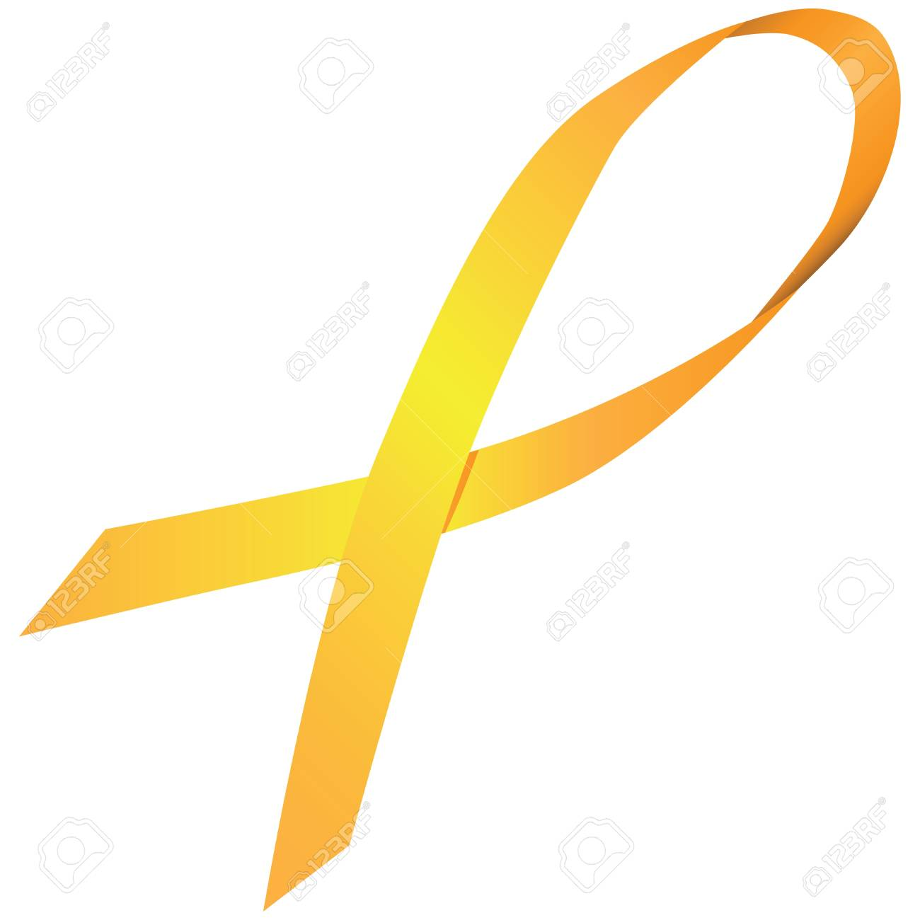 Yellow ribbon symbol suicide and bone cancer. Vector illustration. Stock Vector - 22269660