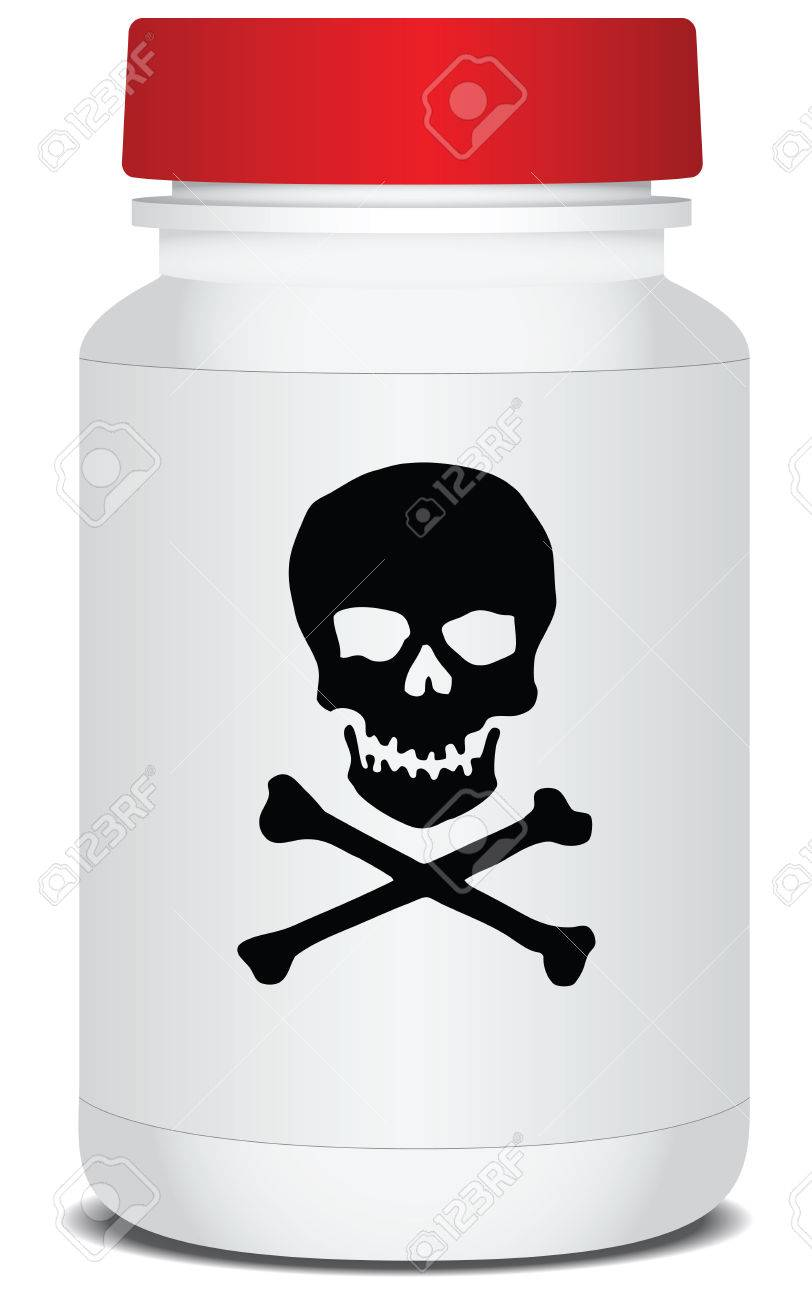 Drug packaging with a warning about the poison. Vector illustration. Stock Vector - 22605359
