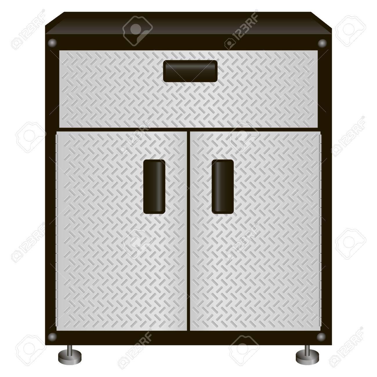 El Gabinete De Acero De Dos Puertas Con Cajones Para Herramientas De ...
