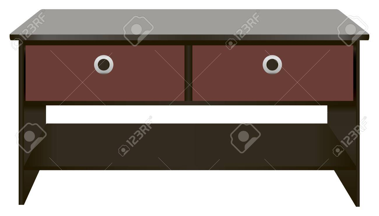 wooden office table. Perfect Table Black Wooden Office Desk With Drawers Vector Illustration Stock   24729582 Inside Wooden Office Table N