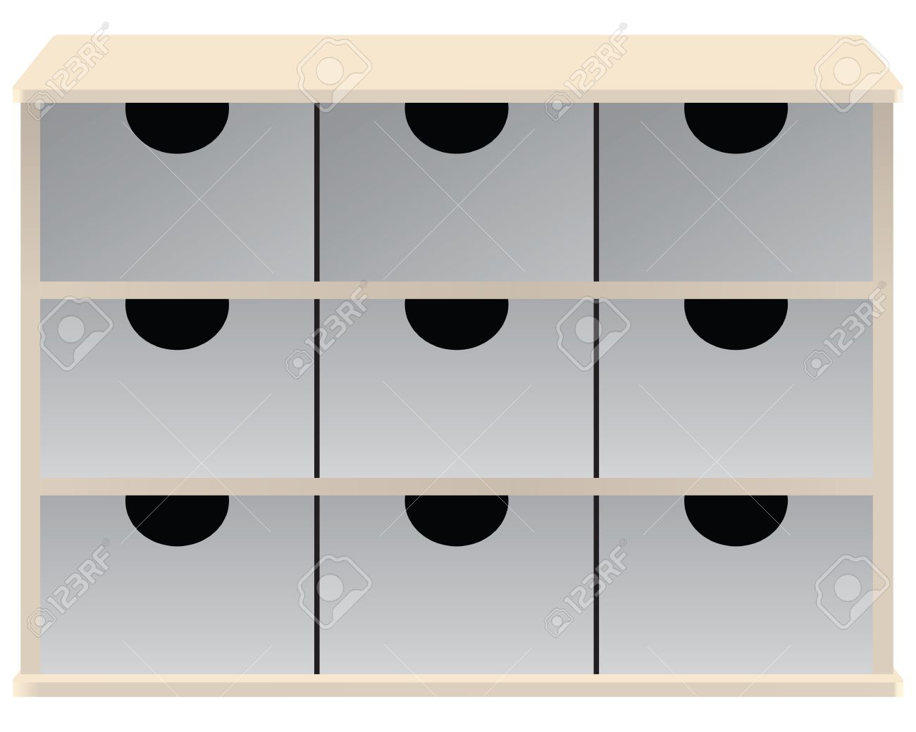 drawer organizer for small parts drawers vector stock vector