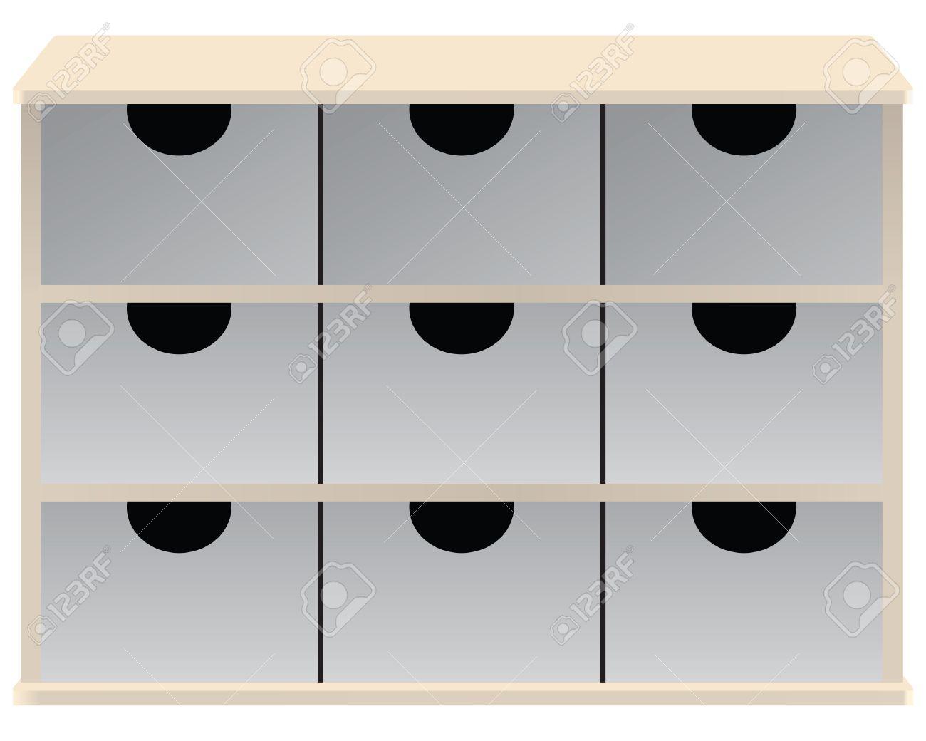 Schubladen Veranstalter Für Kleinteile Schubladen. Vektor ...