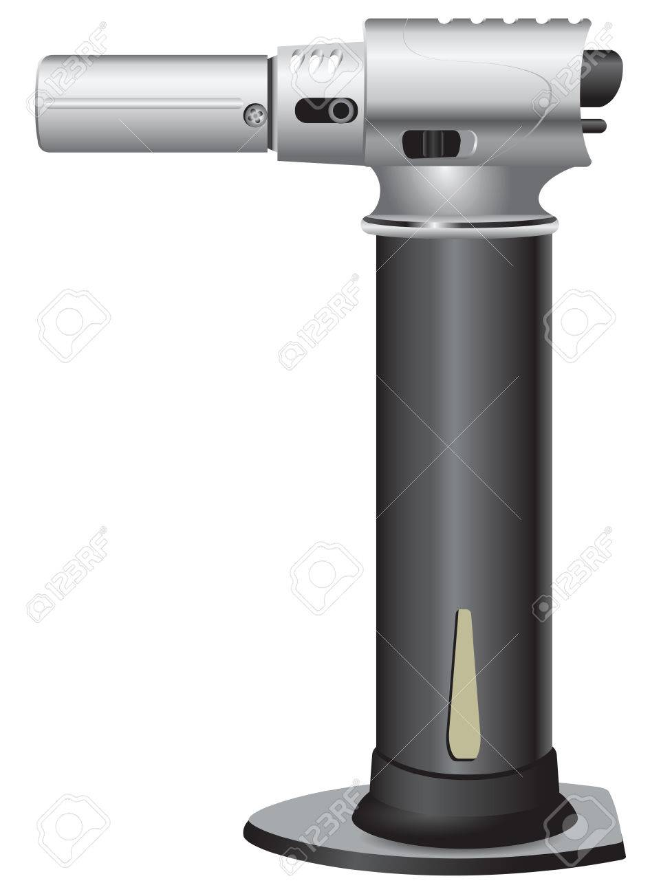 Culinary butane lighter. Vector illustration without trace. Stock Vector - 27907166