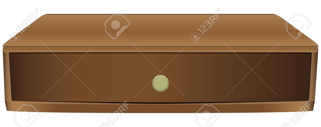 Vettoriale Narrow Cassetto In Legno Per Gli Oggetti Piu Piccoli
