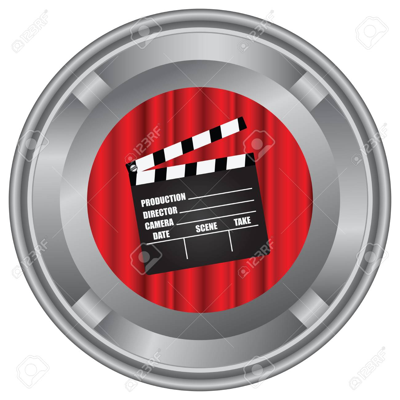 Industrial Box For A Film On The Reel. Royalty Free Cliparts ...