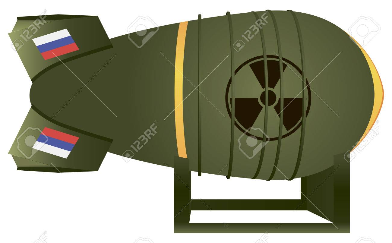 Russian aviation atomic bomb thermonuclear strike. Vector illustration. Stock Vector - 30609947