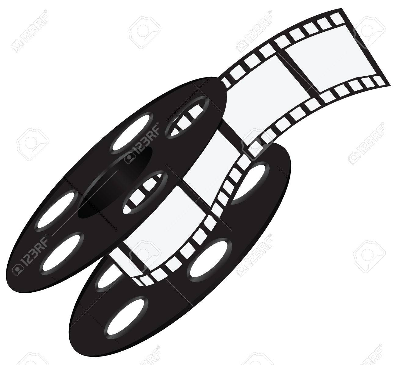 industrial wide film strip on the reel vector illustration royalty rh 123rf com film reel vector black and white film reel vector free