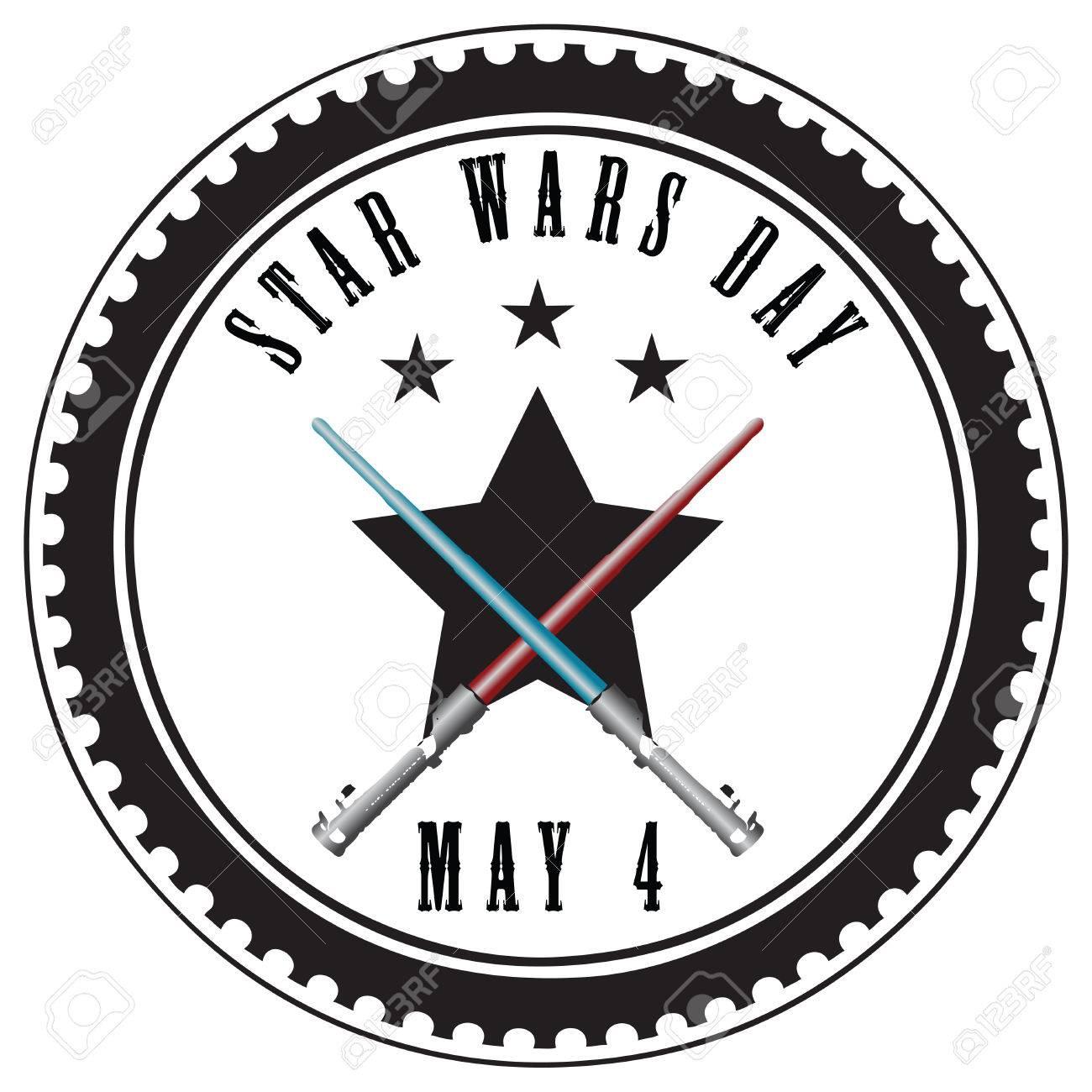 抽象インプリント スターウォーズの日 5 月 4 日にスタンプします