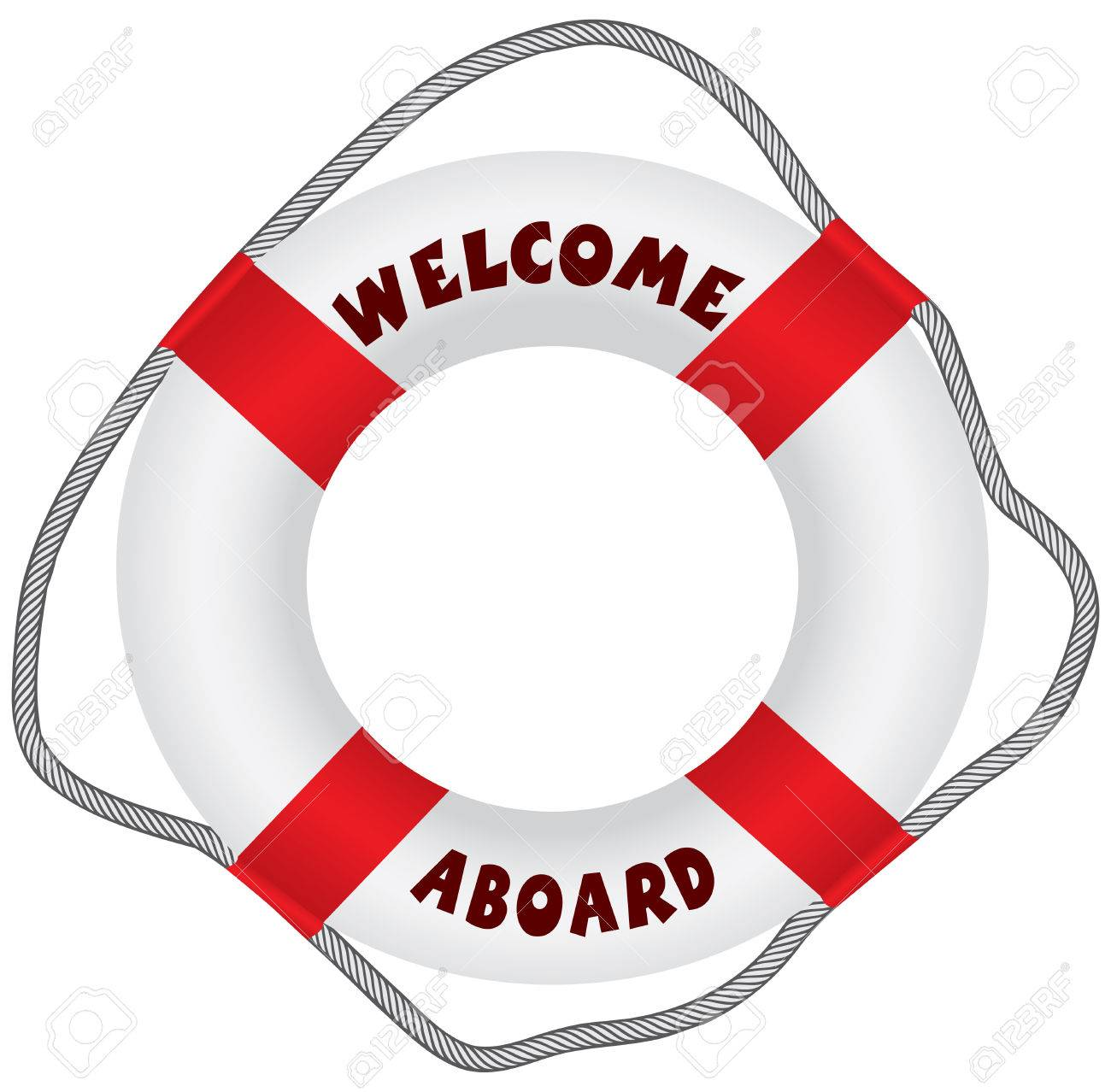 1dbdee4b4eaf Classic lifebuoy with text Welcome Aboard. Vector illustration. Stock  Vector - 45725585