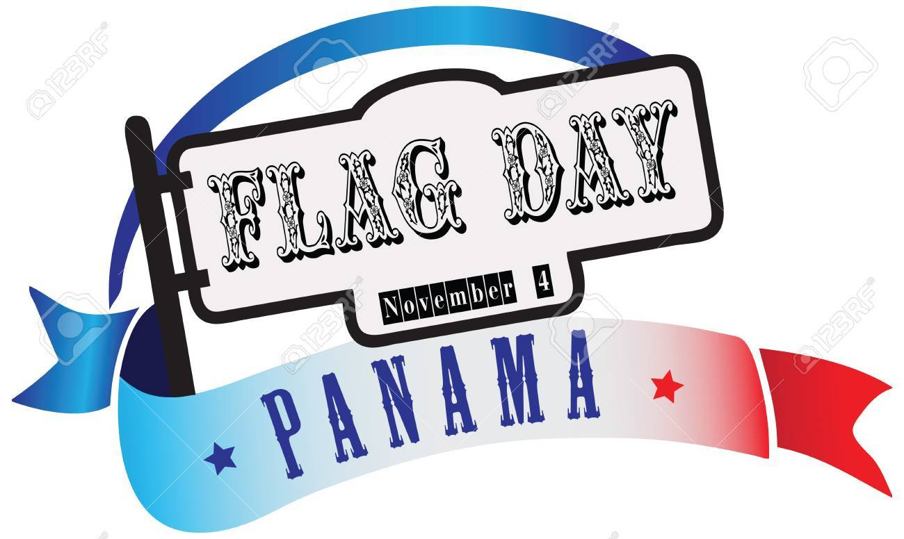 State Flag Day Panama Banner In The Combination Of Colors And