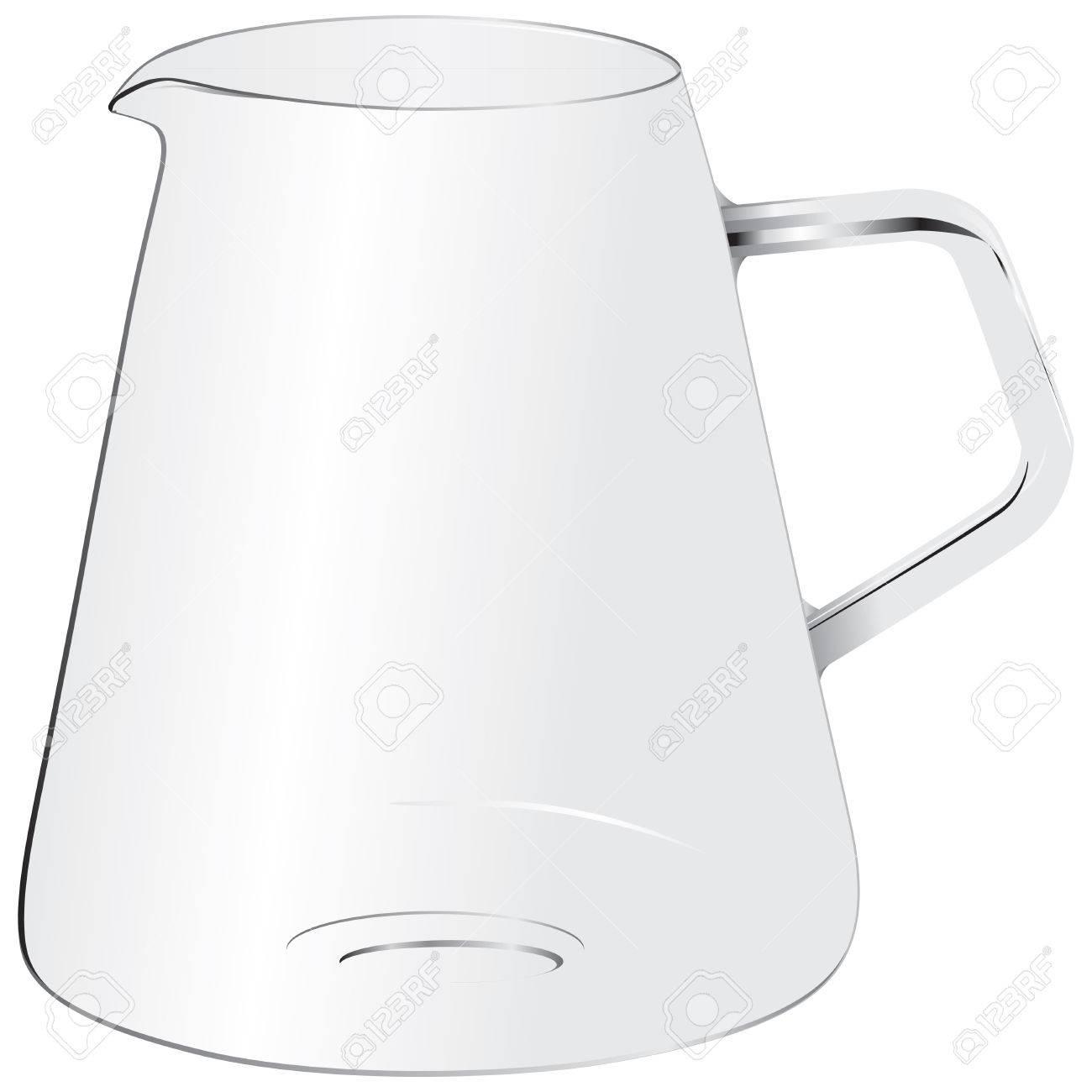Glas Mit Griff Für Die Verwendung Als Küchengerät. Lizenzfrei ...