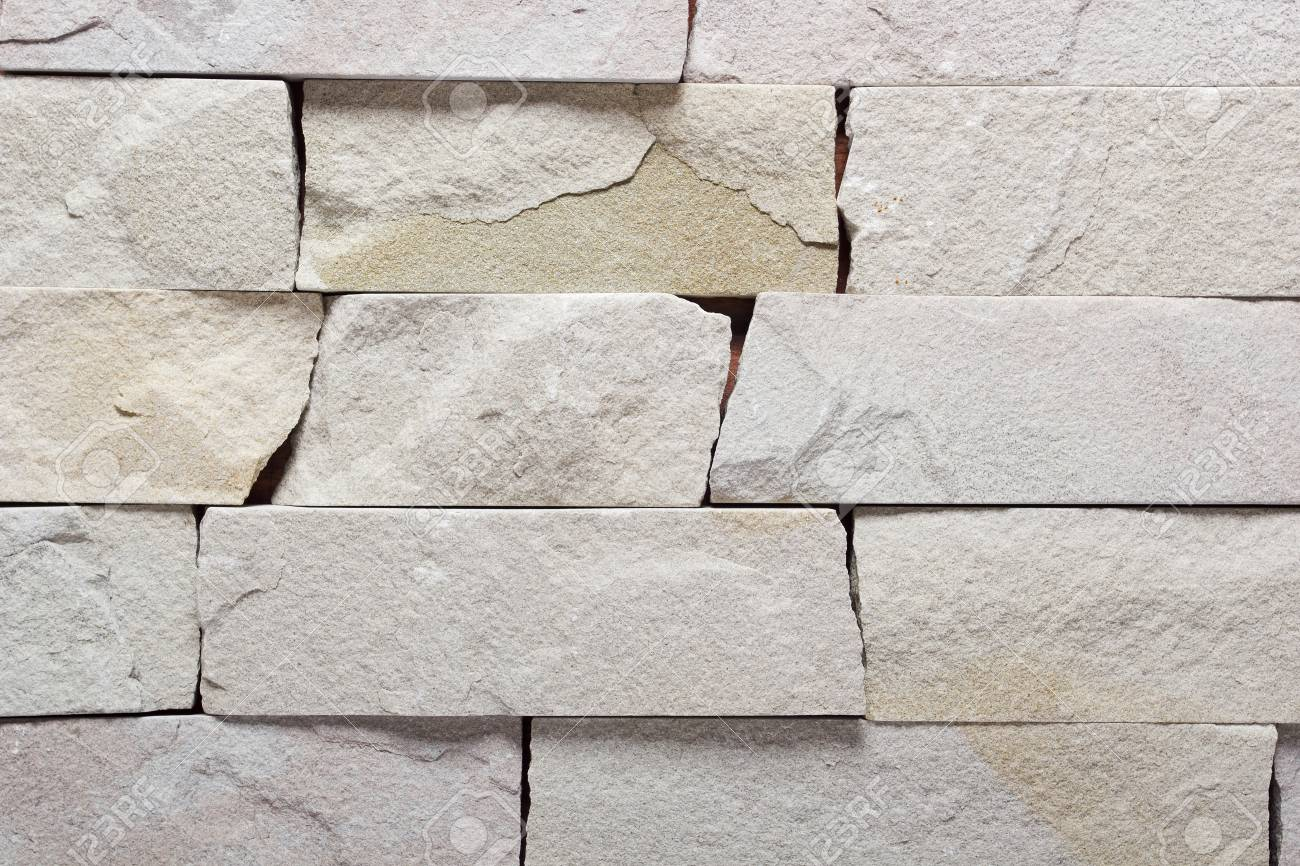Brick Stone Exterior And Interior Decoration Building Material For Wall Finishing Stock Photo