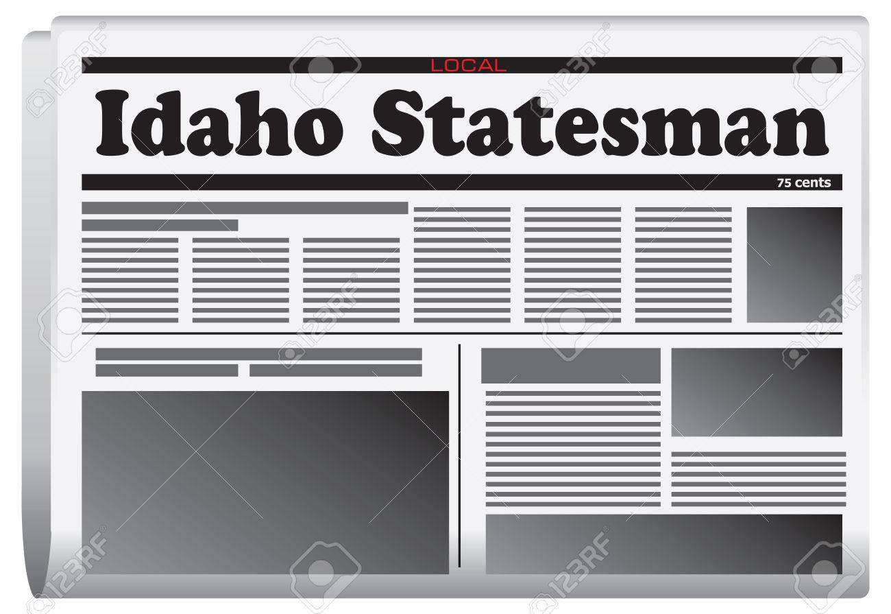 Idaho statesman newspaper online - Idaho Statesman Newspaper Newspaper In Idaho State Idaho Statesman Stock Vector 57991437