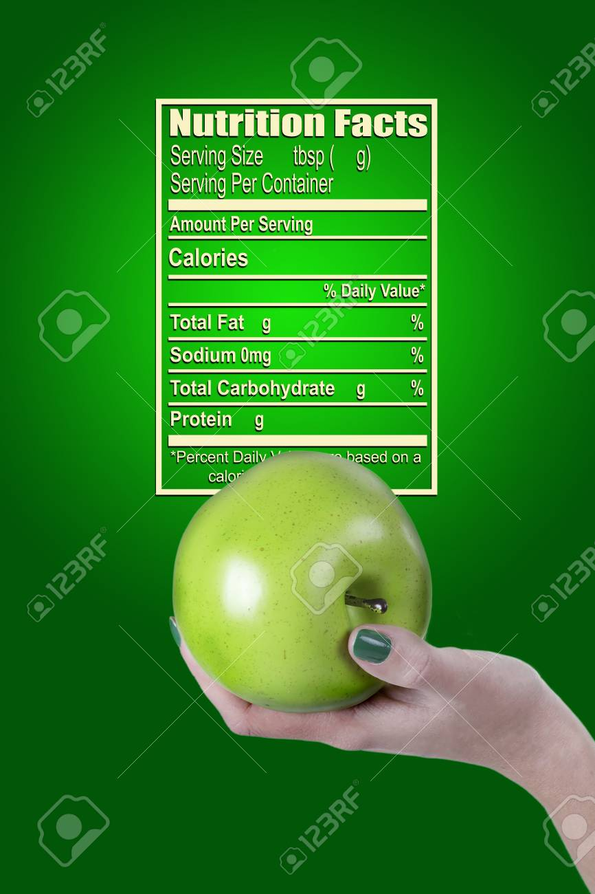 Poster With Green Apple For Nutrition Facts Organic Food Stock Photo Picture And Royalty Free Image Image 78515936