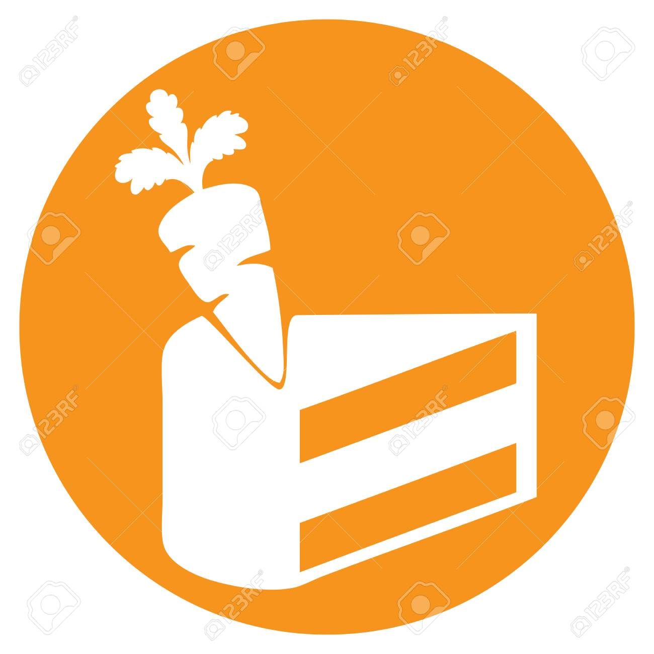 Carrot Cake Day Symbolism Cake With Carrots Royalty Free Cliparts