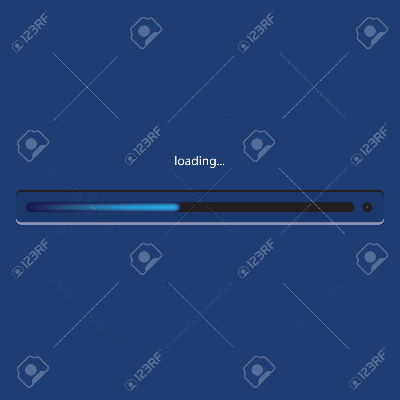 Basic loading panel with standard background color Windows