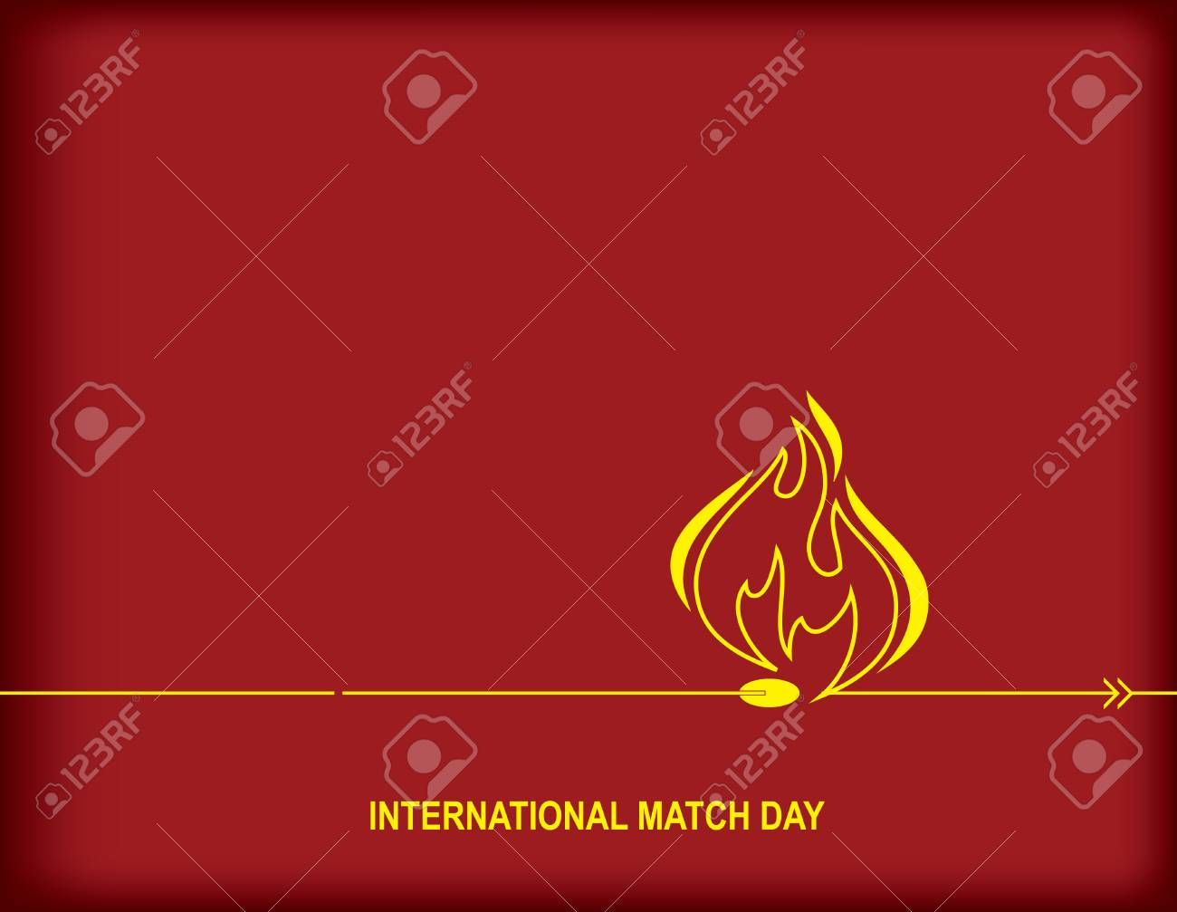 International Match Day Calendar Holiday On March 2 Royalty Free
