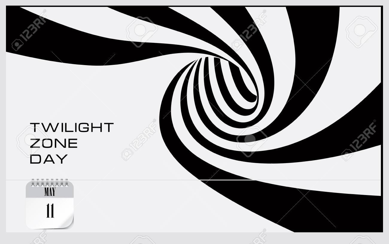Post card Twilight Zone Day. Calendar event. - 125212620