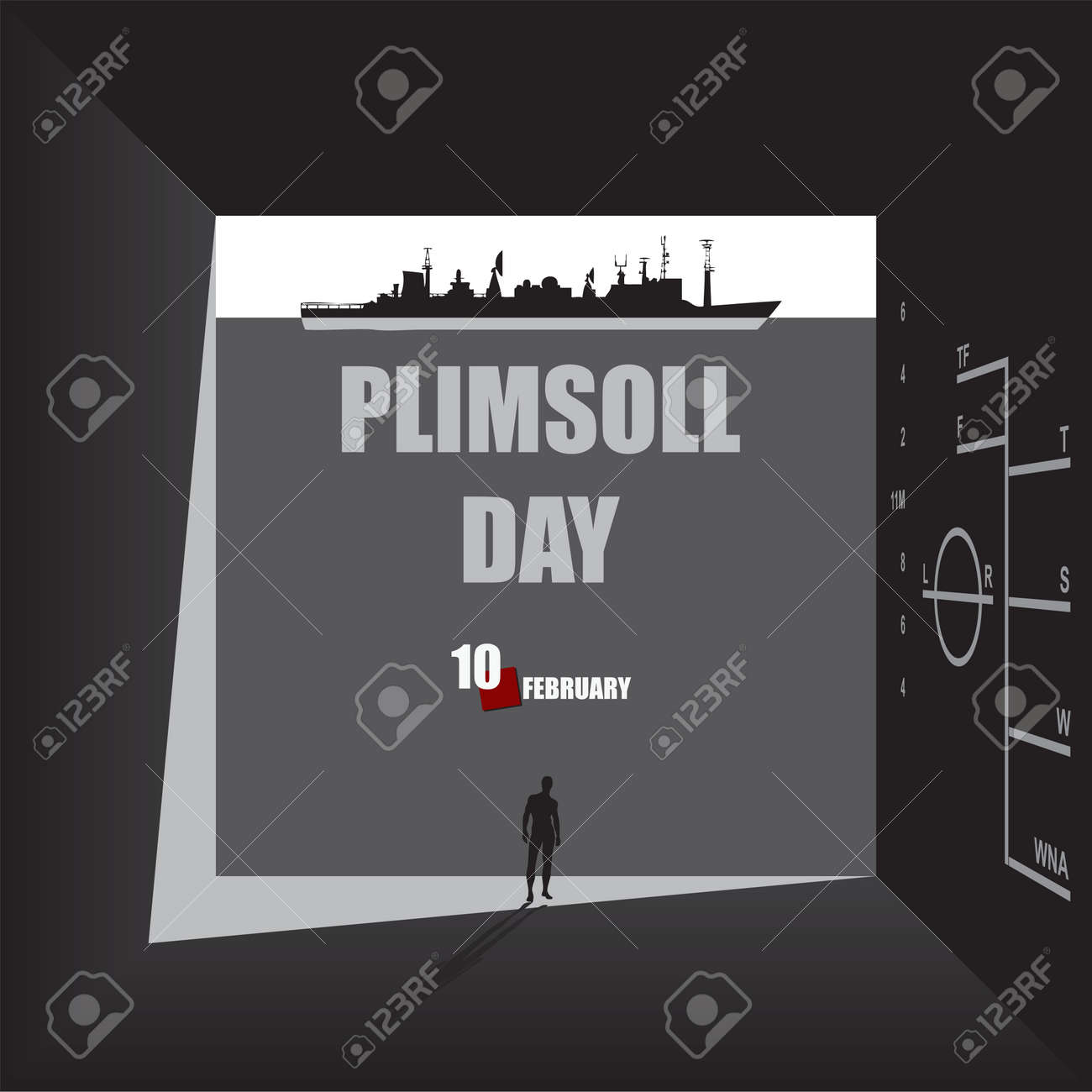 Passage in the thickness of the wall to Plimsoll Day - 163869001