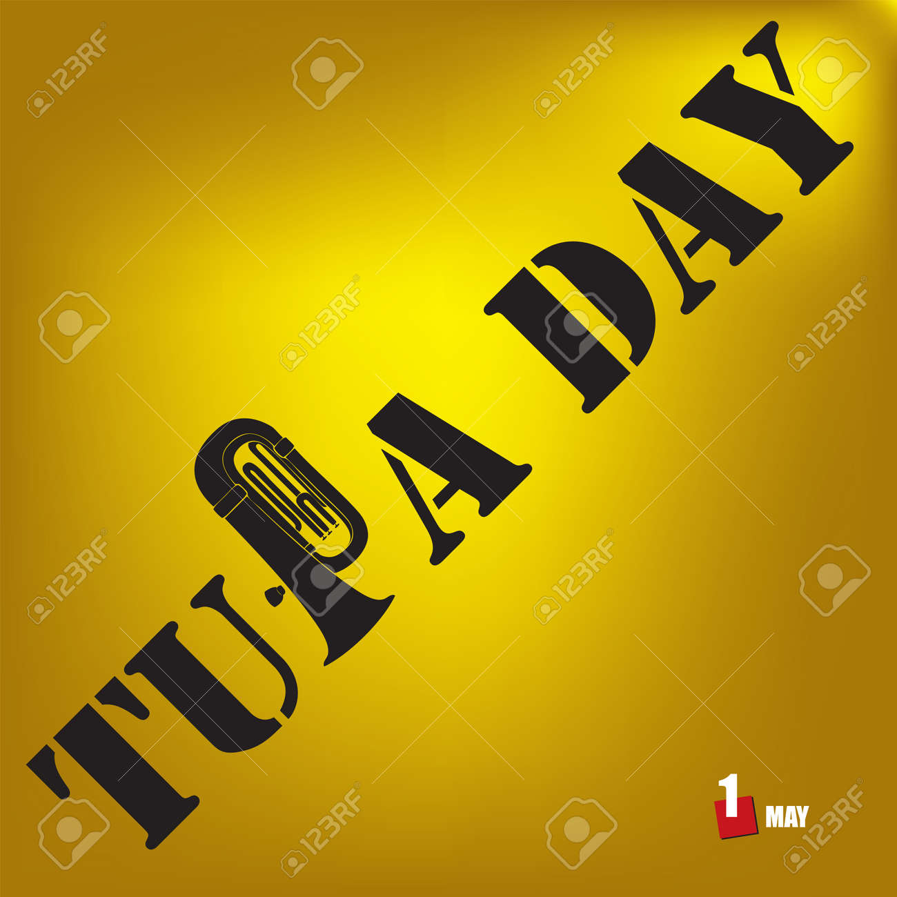 The calendar event is celebrated in april - Tuba Day - 168987675