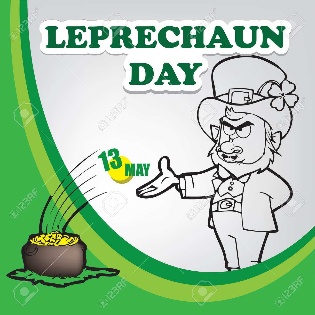 A festive event celebrated in May - Leprechaun Day - 169061373