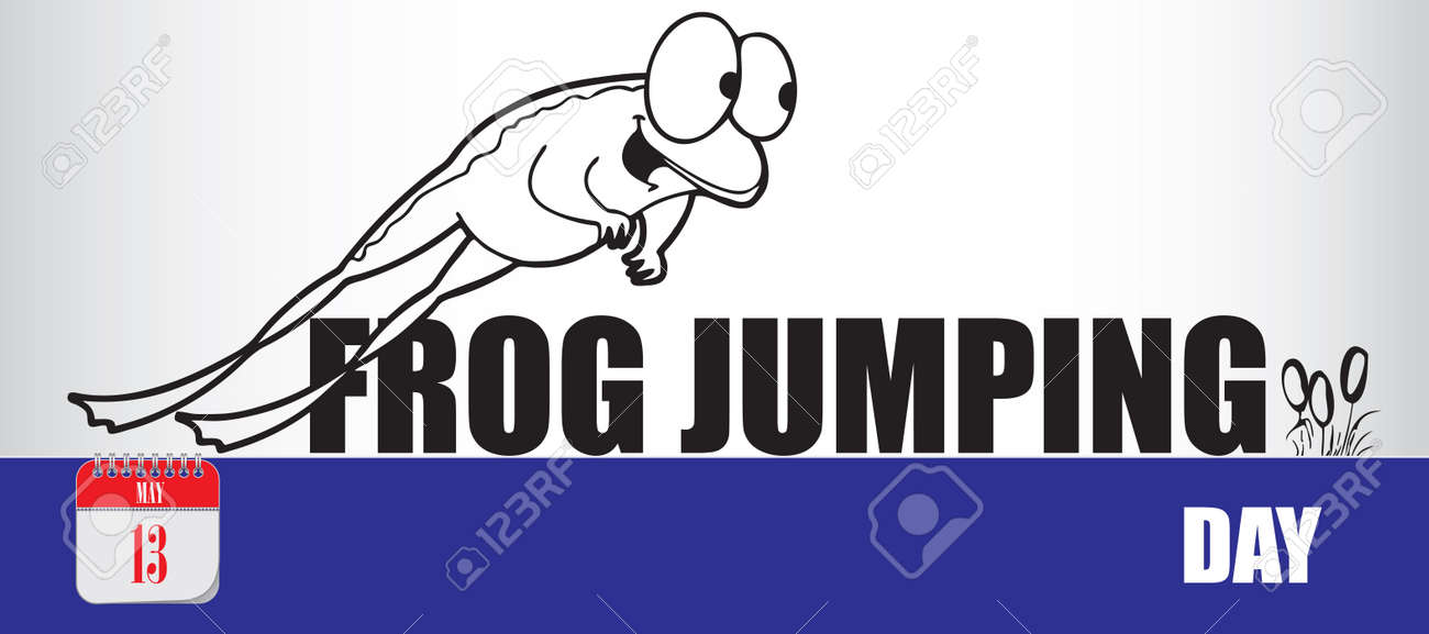 Card for event may day Frog Jumping Day - 169061374
