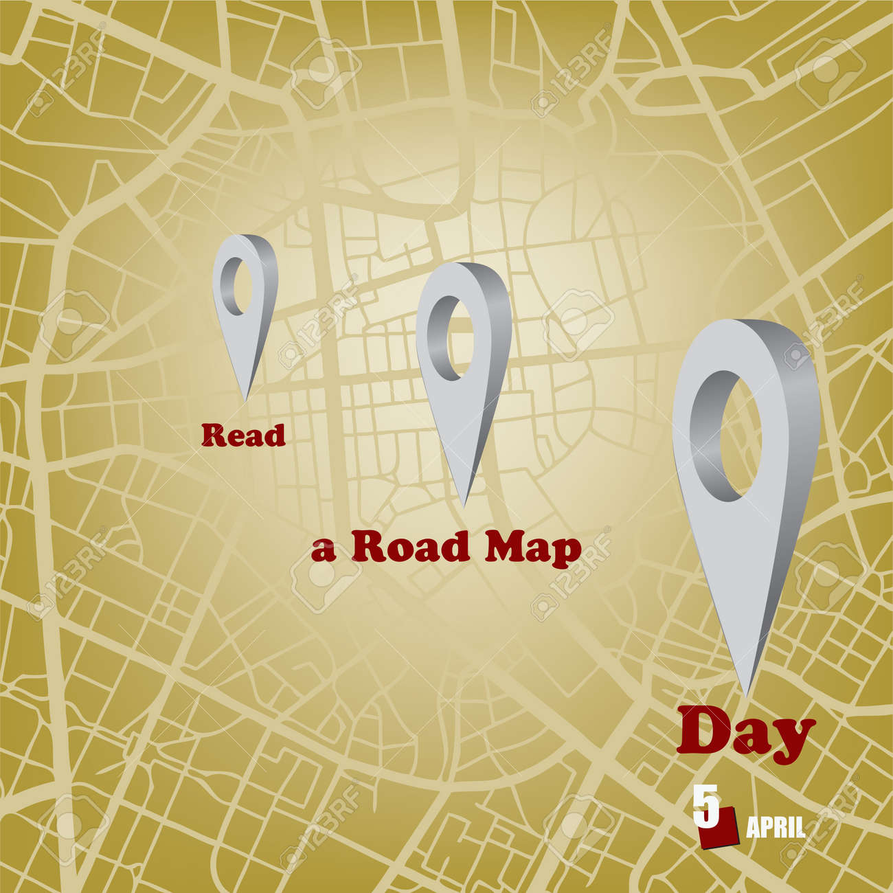 The calendar event is celebrated in april - Read a Road Map Day - 169061375