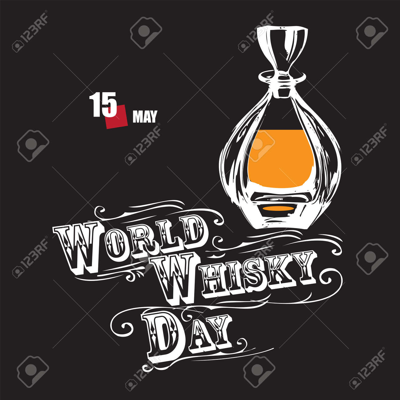 The calendar event is celebrated in may - World Whisky Day - 169061384