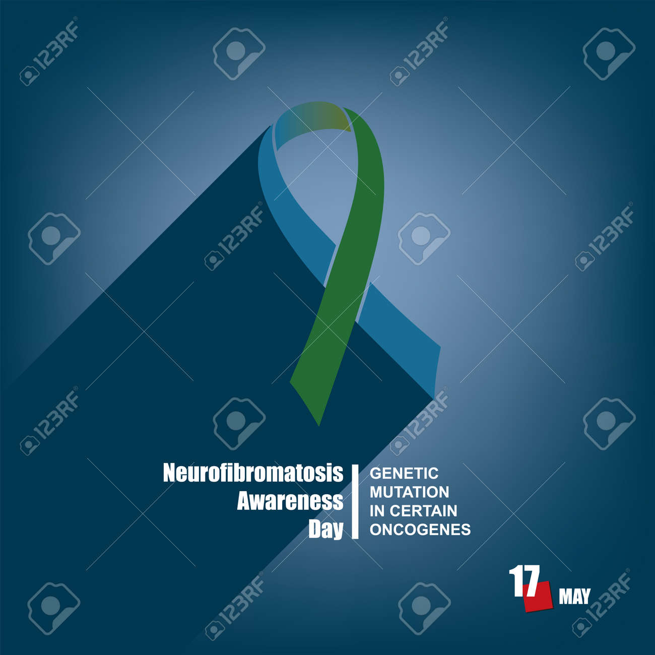 The calendar event is celebrated in may - Neurofibromatosis Awareness Day. Genetic mutation in certain oncogenes - 169061389